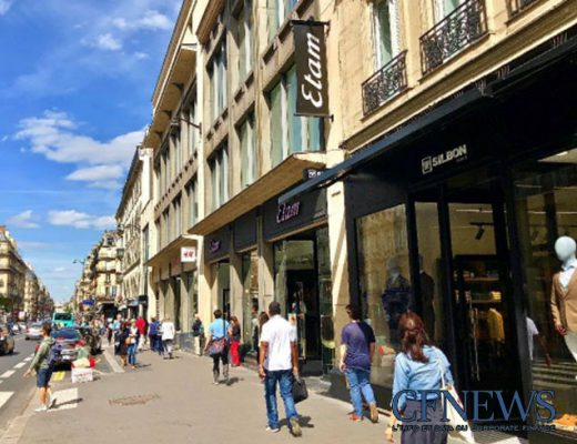 Boutique Silbon rue de Rennes, acquisition 2018 de F&A Asset Management pour High Street Retail